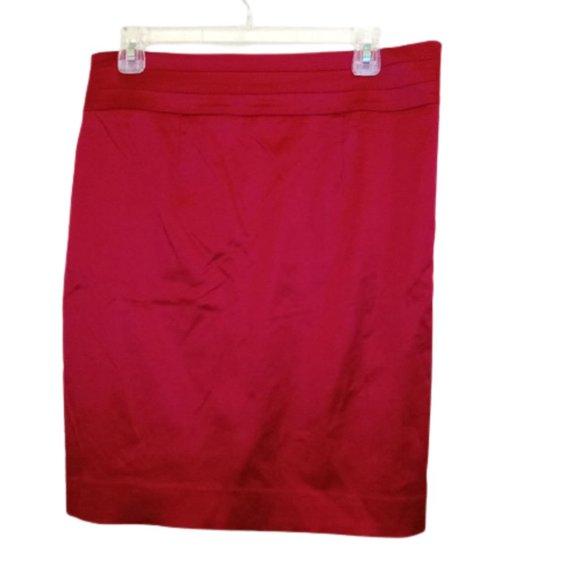 Marciano Red Satin Skirt Fits Medium